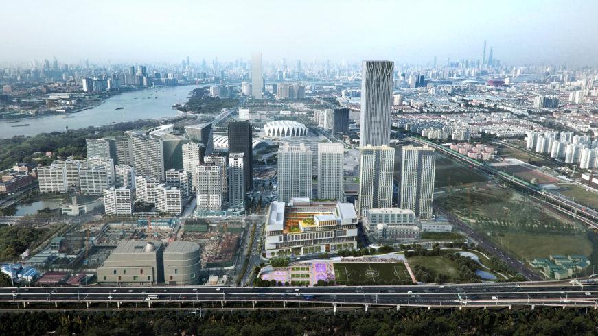 New York University Shanghai image - Rendering by Atchaing