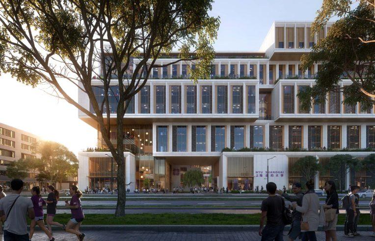 New York University Shanghai image - Rendering by PLOMP