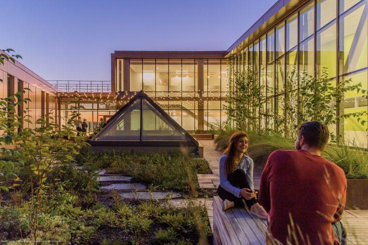 University of Massachusetts Amherst image -   Courtesy Stephen Stimson Associates Landscape Architects
